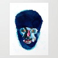 werewolf Art Prints featuring werewolf by Alvaro Tapia Hidalgo