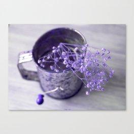 Purple vintage flour sifter Canvas Print