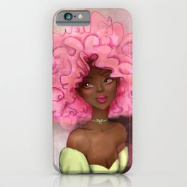 ROSE AFRO LADY iPhone Case