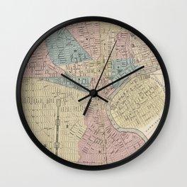 Vintage Map of Newark NJ (1879) Wall Clock