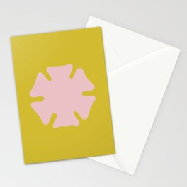 asterisk flower yellow Stationery Cards