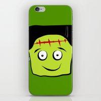 frankenstein iPhone & iPod Skins featuring Frankenstein by Jessica Slater Design & Illustration