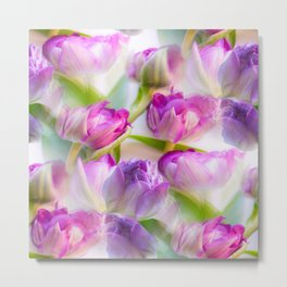 Multicolor Tulip Bouquet Spring Mood #decor #society6 #buyart Metal Print