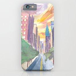 New York City Lexington Avenue View Of Skyline iPhone Case