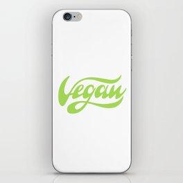 Vegan Lettering design iPhone Skin
