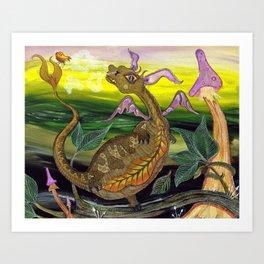 Bogg the dragon Art Print