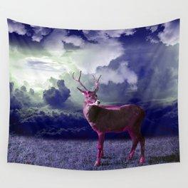 Le cerf dans les nuages Wall Tapestry