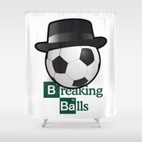 breaking Shower Curtains featuring Breaking Bad parody: breaking balls by logoloco