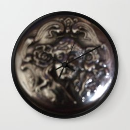 Silver pendant Wall Clock