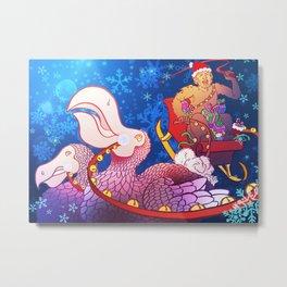 Christmas Yeti and the Dodos Metal Print