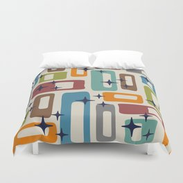 Retro Mid Century Modern Abstract Pattern 224 Duvet Cover