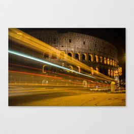 Zooming past the Colosseum Canvas Print