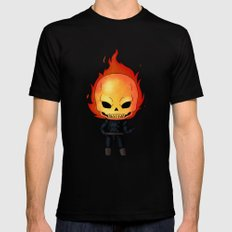 Chibi Ghost Rider Black MEDIUM Mens Fitted Tee