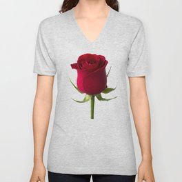 Red rose Unisex V-Neck