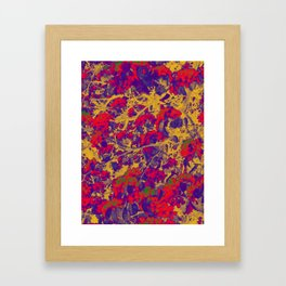 Modern Abstract Art Composition Multicolored Framed Art Print