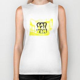 Cataclysm Yellow Print Biker Tank