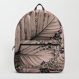 Banana Leaves Glitter Glam #3 #shiny #tropical #decor #art #society6 Backpack
