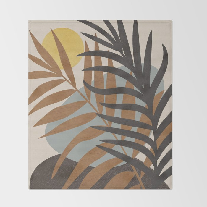 Abstract Tropical Art IV Throw Blanket