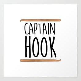 Captain Hook Art Print