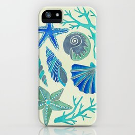 Blue Seashells iPhone Case