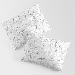 ginkgo leaves (white) Pillow Sham