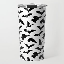 Bat Pattern - White Travel Mug