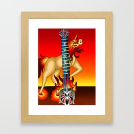 Fusion Keyblade Guitar #188 - Unicornis' Keyblade & Eternal Flame Framed Art Print