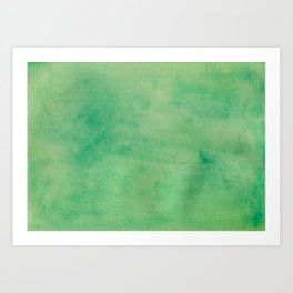 MINT GREEN WATERCOLOR BACKGROUND.  Art Print