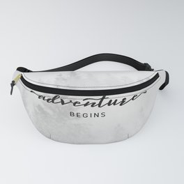 And So The Adventure Begins Fanny Pack