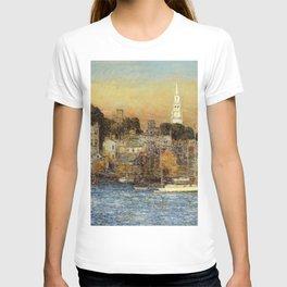 Classical Masterpiece 'October Sundown - Newport, Rhode Island' by Frederick Childe Hassam T-shirt