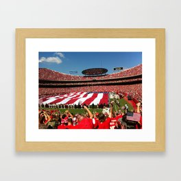 10th Anniversary of 9/11 at Arrowhead Stadium Framed Art Print