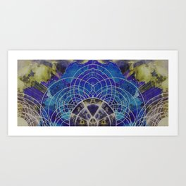 Astrological Map I Art Print