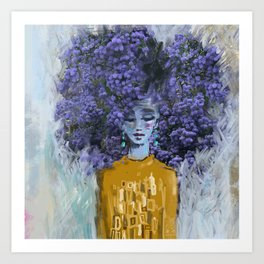 California Lilac Art Print
