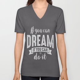 You Can do It - Motivation Unisex V-Neck