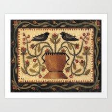 Blackbird Arrangement  Art Print