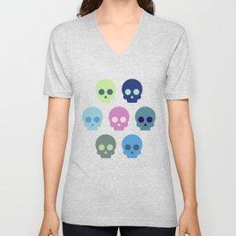 Colorful Skull Cute Pattern Unisex V-Neck