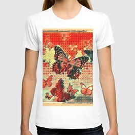 MODERN ART DESIGN of ABSTRACTED BUTTERFLIES T-shirt