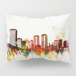 Watercolor Richmond Virginia Skyline Pillow Sham