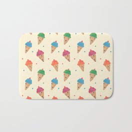 Fun Ice Cream Pattern Bath Mat