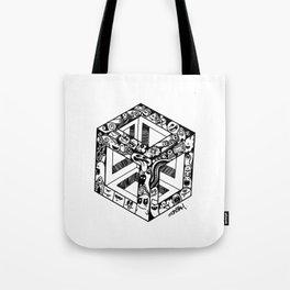 Monster cube Tote Bag
