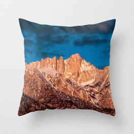 Mt Whitney Sunrise  3-24-20  Throw Pillow