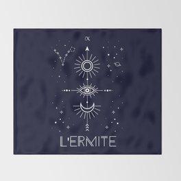 The Hermite or L'Ermite Tarot Throw Blanket