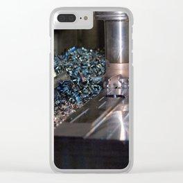milling machine Clear iPhone Case
