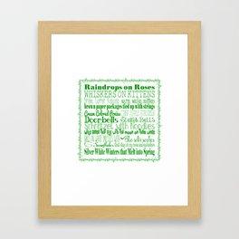 A Few of My Favorite Things - Green Framed Art Print