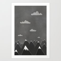 Chalkboard Winter Art Print