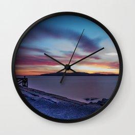 Glorious Blue Night Wall Clock
