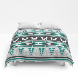 Ethnic pattern with foxes Comforters