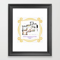 Apartment of Chandler and Joey from FRIENDS Framed Art Print
