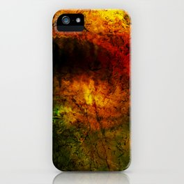 Burning cave iPhone Case