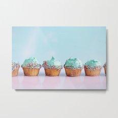 turquoise cupcakes Metal Print